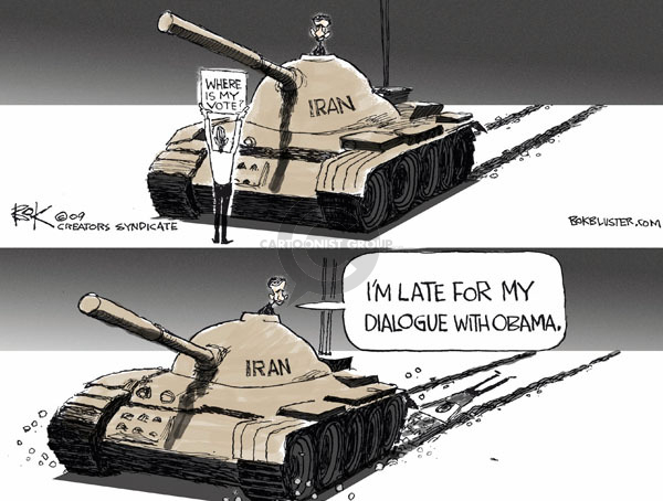 Chip Bok  Chip Bok's Editorial Cartoons 2009-06-17 2009 Iranian election