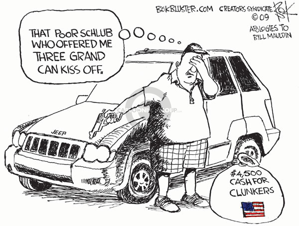 Cartoonist Chip Bok  Chip Bok's Editorial Cartoons 2009-06-26 vehicle