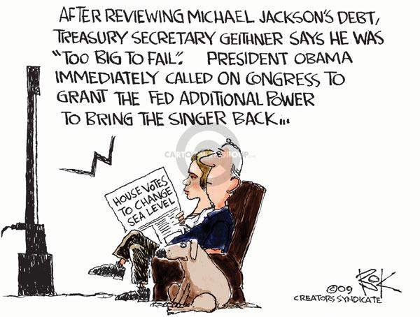 Cartoonist Chip Bok  Chip Bok's Editorial Cartoons 2009-06-29 Obama economy
