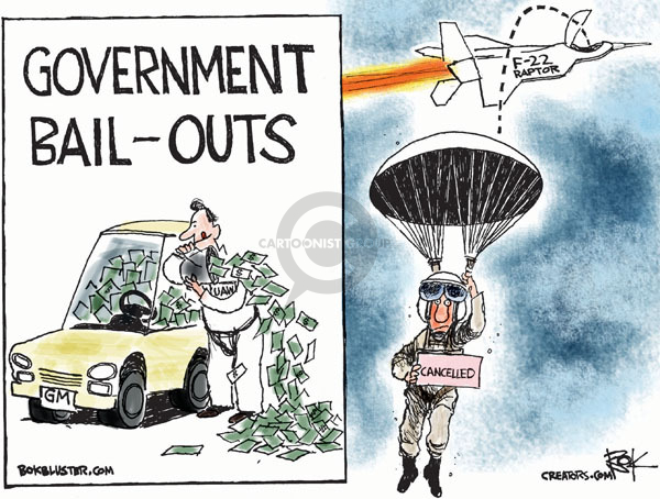 Cartoonist Chip Bok  Chip Bok's Editorial Cartoons 2009-07-23 automotive industry bailout