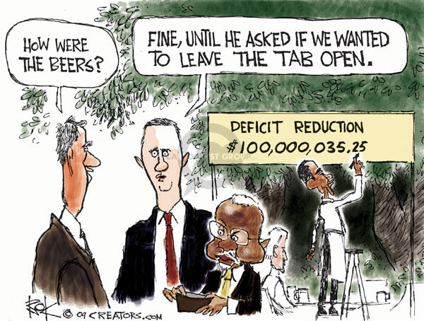 Chip Bok  Chip Bok's Editorial Cartoons 2009-07-31 federal budget