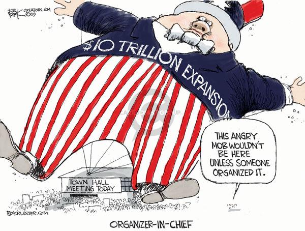 Chip Bok  Chip Bok's Editorial Cartoons 2009-08-06 federal budget