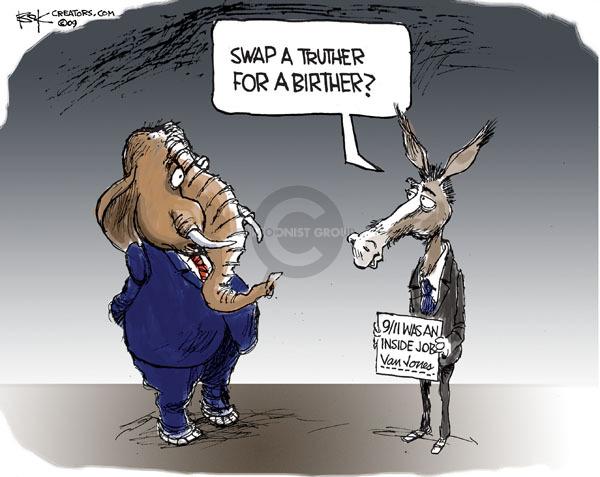 Cartoonist Chip Bok  Chip Bok's Editorial Cartoons 2009-09-09 republican