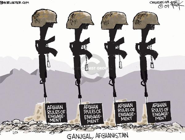 Cartoonist Chip Bok  Chip Bok's Editorial Cartoons 2009-09-12 rifle
