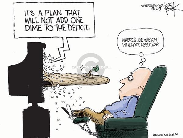 Cartoonist Chip Bok  Chip Bok's Editorial Cartoons 2009-09-14 politics