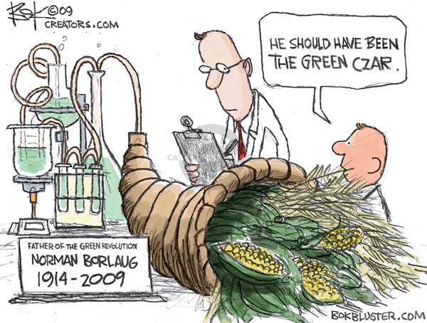 Cartoonist Chip Bok  Chip Bok's Editorial Cartoons 2009-09-18 harvest