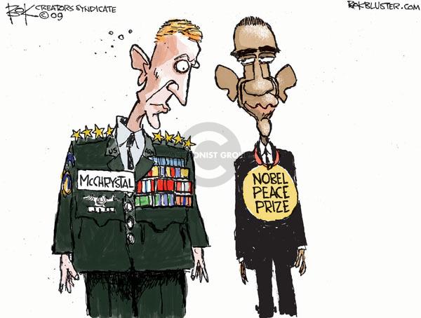 Cartoonist Chip Bok  Chip Bok's Editorial Cartoons 2009-10-09 international relations