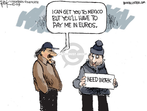 Cartoonist Chip Bok  Chip Bok's Editorial Cartoons 2009-10-10 unemployment