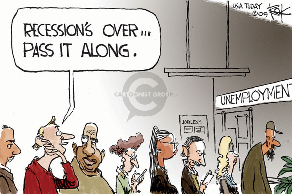 Cartoonist Chip Bok  Chip Bok's Editorial Cartoons 2009-11-01 recession