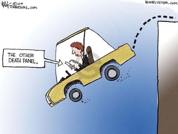 Cartoonist Chip Bok  Chip Bok's Editorial Cartoons 2009-11-03 automobile safety