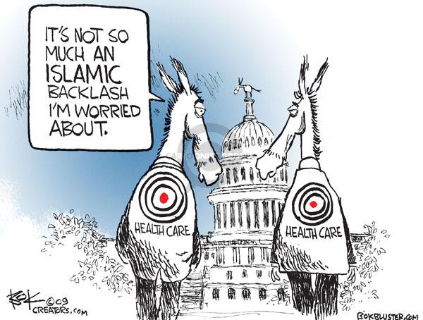Cartoonist Chip Bok  Chip Bok's Editorial Cartoons 2009-11-13 politics