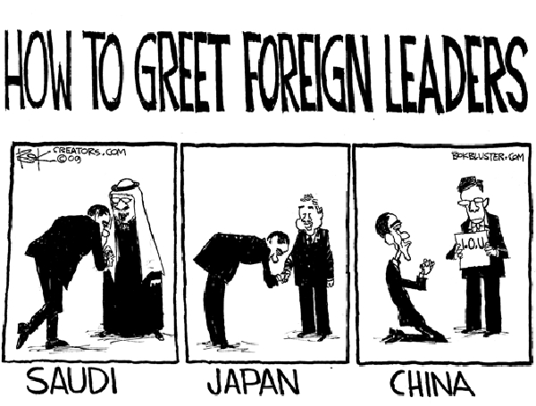 Chip Bok  Chip Bok's Editorial Cartoons 2009-11-16 Chinese President