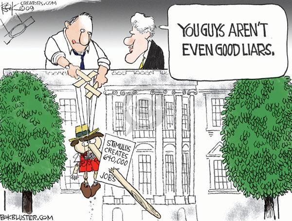 Cartoonist Chip Bok  Chip Bok's Editorial Cartoons 2009-11-20 Obama economy