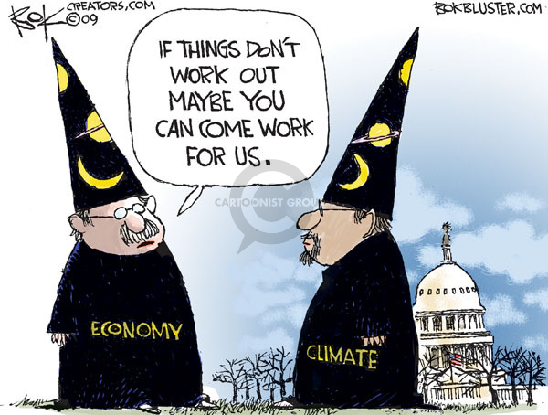 Cartoonist Chip Bok  Chip Bok's Editorial Cartoons 2009-12-04 global warming