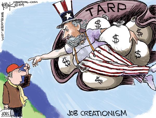 Cartoonist Chip Bok  Chip Bok's Editorial Cartoons 2009-12-09 unemployment