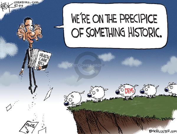 Cartoonist Chip Bok  Chip Bok's Editorial Cartoons 2009-12-18 democrat