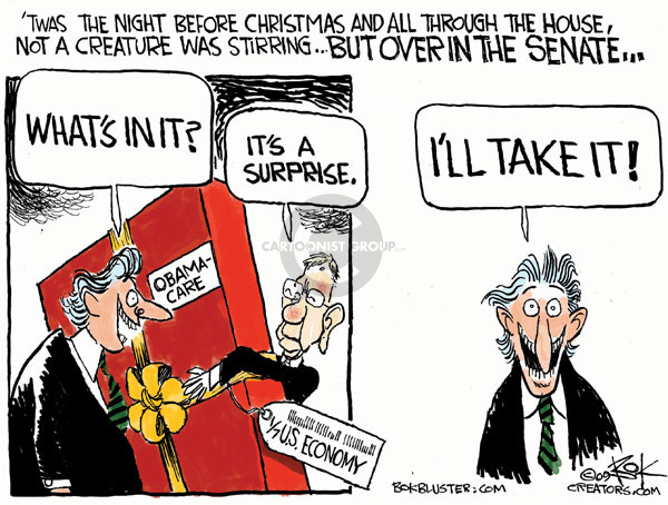 Chip Bok  Chip Bok's Editorial Cartoons 2009-12-22 'twas