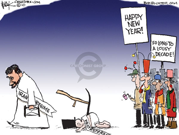 Chip Bok  Chip Bok's Editorial Cartoons 2009-12-31 Middle East