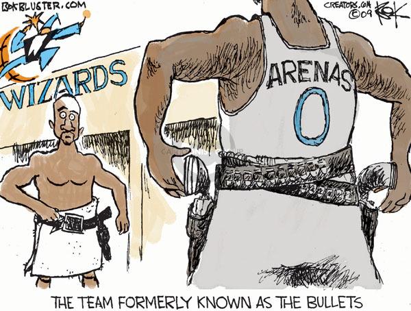 Cartoonist Chip Bok  Chip Bok's Editorial Cartoons 2010-01-04 NBA