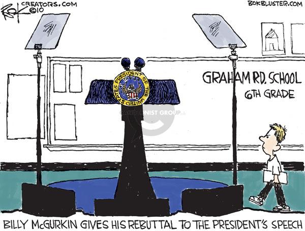 Cartoonist Chip Bok  Chip Bok's Editorial Cartoons 2010-01-26 republican