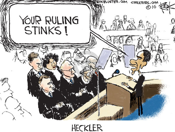 Chip Bok  Chip Bok's Editorial Cartoons 2010-01-28 first amendment