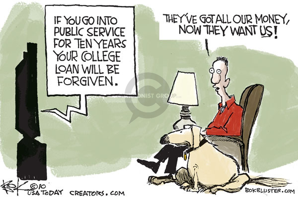 Cartoonist Chip Bok  Chip Bok's Editorial Cartoons 2010-02-01 money