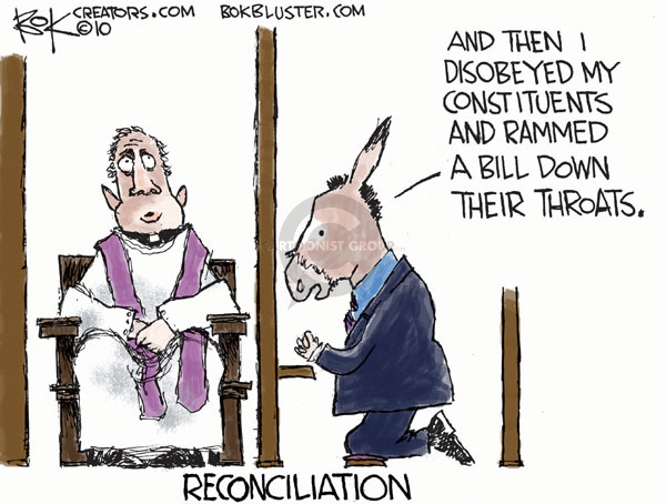 Cartoonist Chip Bok  Chip Bok's Editorial Cartoons 2010-03-04 legislation