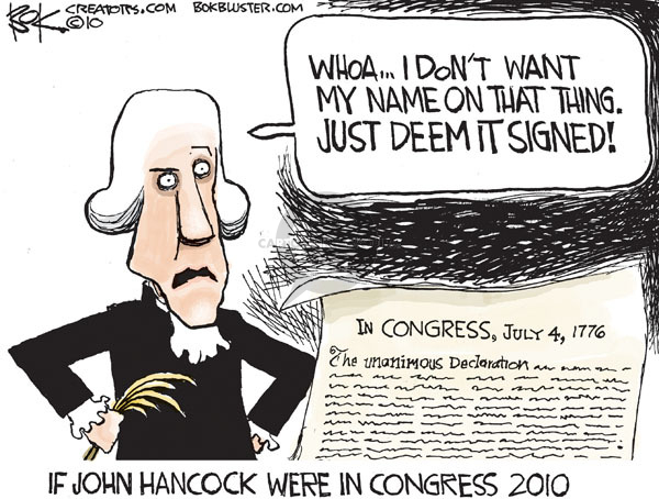 Chip Bok  Chip Bok's Editorial Cartoons 2010-03-17 American independence