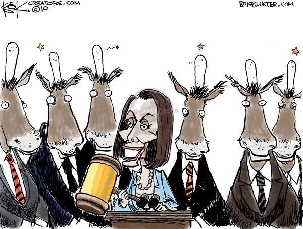 Cartoonist Chip Bok  Chip Bok's Editorial Cartoons 2010-03-22 democrat