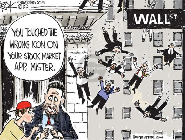 Chip Bok  Chip Bok's Editorial Cartoons 2010-05-07 Wall Street