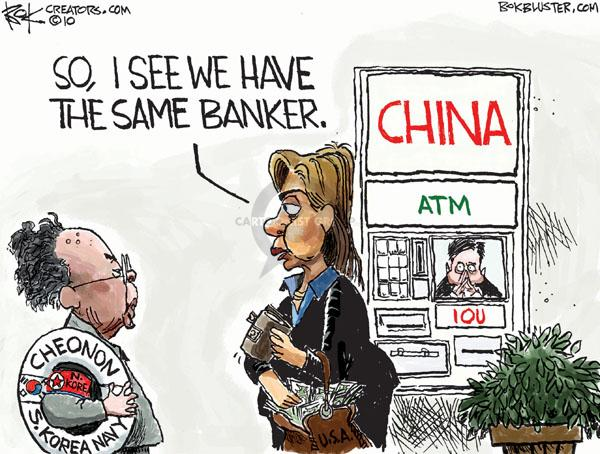 Cartoonist Chip Bok  Chip Bok's Editorial Cartoons 2010-06-02 global economy