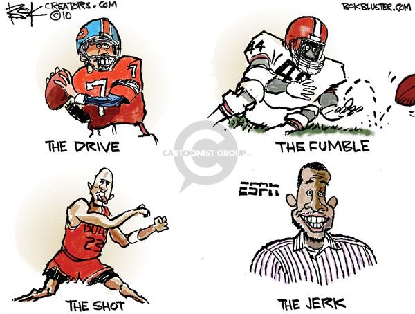 Cartoonist Chip Bok  Chip Bok's Editorial Cartoons 2010-07-10 professional athlete