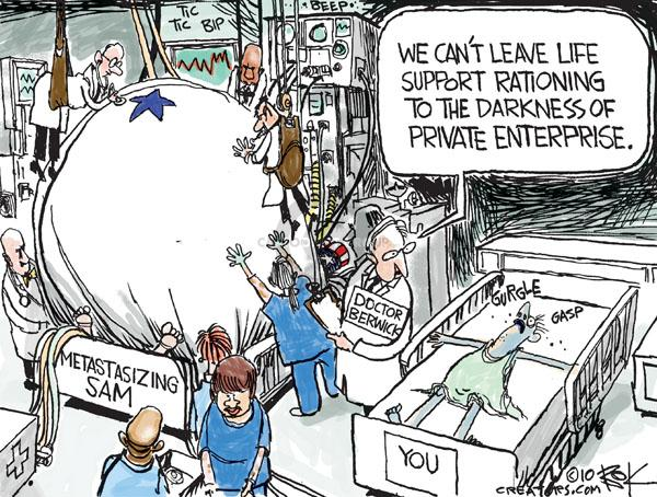 Cartoonist Chip Bok  Chip Bok's Editorial Cartoons 2010-07-13 policy