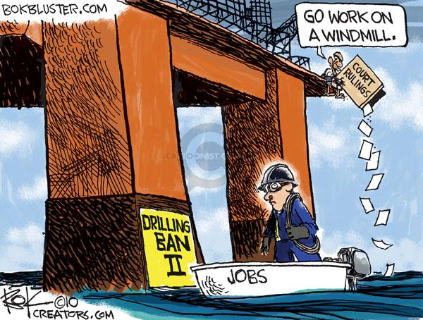 Cartoonist Chip Bok  Chip Bok's Editorial Cartoons 2010-07-14 oil drilling