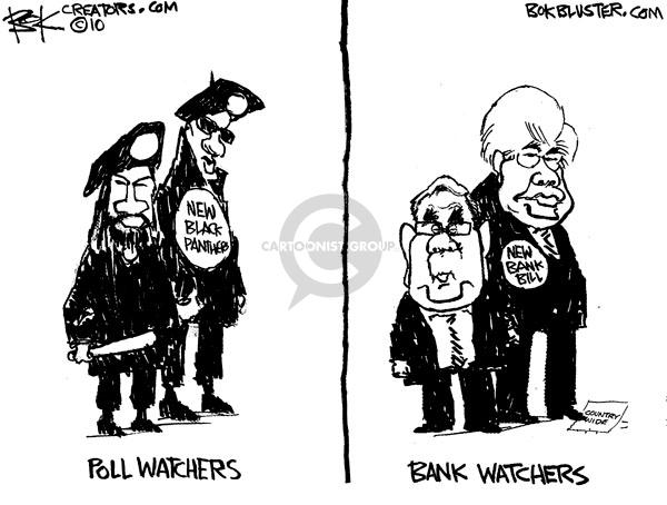Cartoonist Chip Bok  Chip Bok's Editorial Cartoons 2010-07-16 congressional oversight