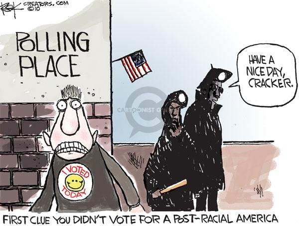 Chip Bok  Chip Bok's Editorial Cartoons 2010-07-22 racism
