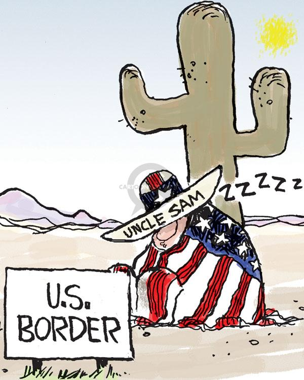 Chip Bok  Chip Bok's Editorial Cartoons 2010-07-29 Mexican immigration