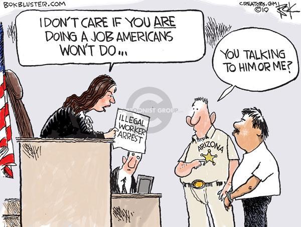 Cartoonist Chip Bok  Chip Bok's Editorial Cartoons 2010-07-30 enforcement