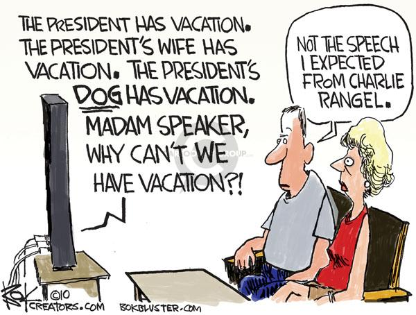 Chip Bok  Chip Bok's Editorial Cartoons 2010-08-10 congressional vacation