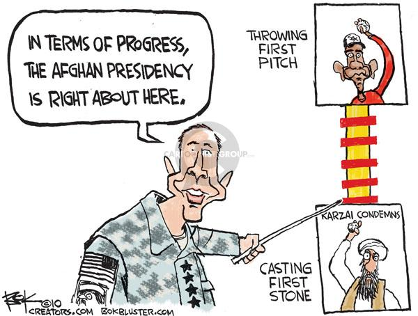 Cartoonist Chip Bok  Chip Bok's Editorial Cartoons 2010-08-23 Afghanistan