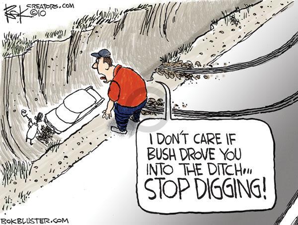 Cartoonist Chip Bok  Chip Bok's Editorial Cartoons 2010-08-24 George W. Bush