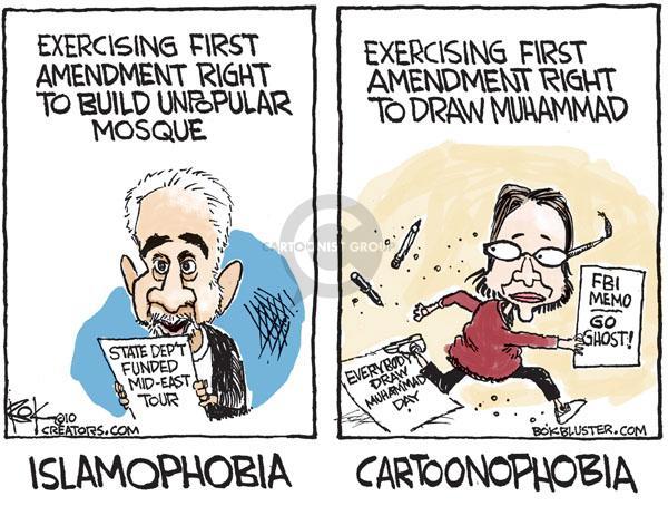 Cartoonist Chip Bok  Chip Bok's Editorial Cartoons 2010-09-21 identity