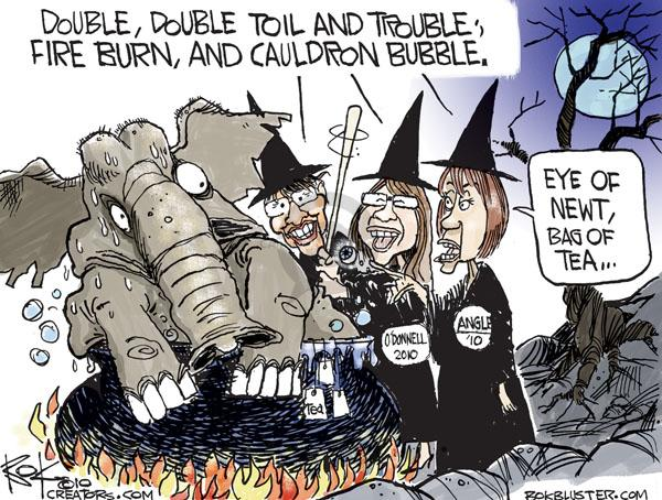 Cartoonist Chip Bok  Chip Bok's Editorial Cartoons 2010-09-22 midterm election