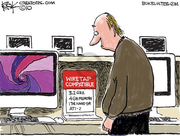 Cartoonist Chip Bok  Chip Bok's Editorial Cartoons 2010-09-28 technology