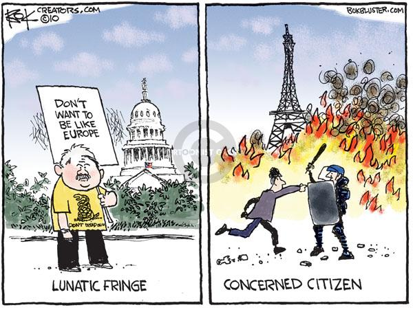 Cartoonist Chip Bok  Chip Bok's Editorial Cartoons 2010-10-22 France