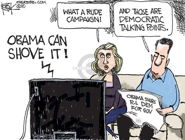 Cartoonist Chip Bok  Chip Bok's Editorial Cartoons 2010-10-26 democratic candidate