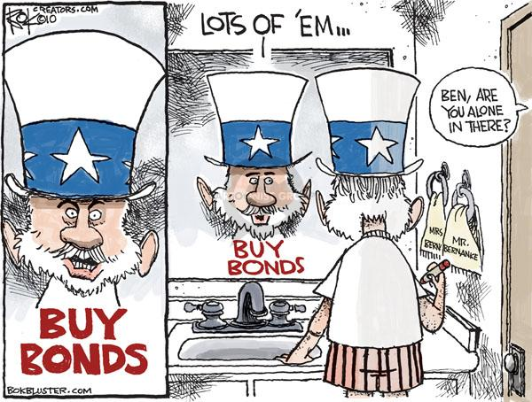 Cartoonist Chip Bok  Chip Bok's Editorial Cartoons 2010-11-05 economic stimulus