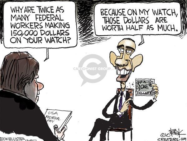 Cartoonist Chip Bok  Chip Bok's Editorial Cartoons 2010-11-11 Obama economy