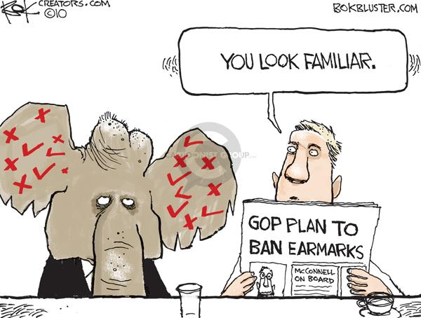 You look familiar.  GOP Plan to Ban Earmarks.  McConnell on Board.