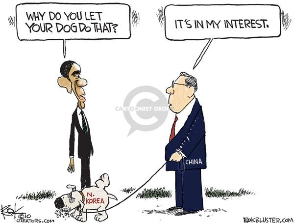 Chip Bok  Chip Bok's Editorial Cartoons 2010-11-29 Chinese President